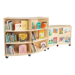 Curved Mobile Storage Shelving - Group