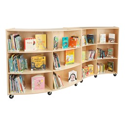"Concave Mobile Storage Shelving 48"" H - Unassembled - Group"