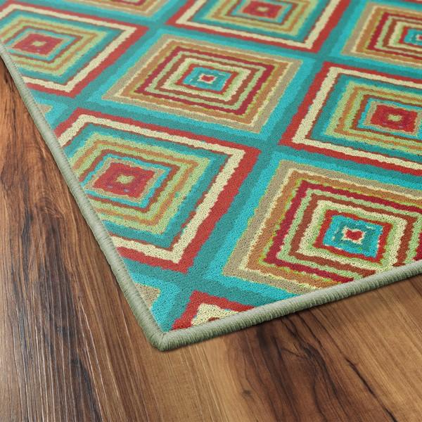 Multicolor Tiles Rug