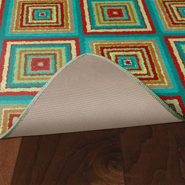 Multicolor Tiles Rug - Skid-Resistant Backing