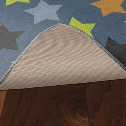 Colorful Reach for the Stars Rug - Skid-Resistant Backing