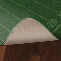 Football Field Rug - Skid-Resistant Backing
