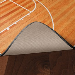 Basketball Court Rug - Skid-Resistant Backing