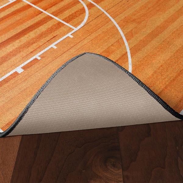 Basketball Court Rug - Skid-Resistant Backing