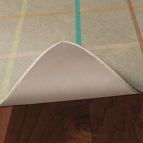 Colorful Lines Rug - Skid-Resistant Backing