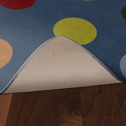 Multicolor Large Dots Rug - Skid-Resistant Backing