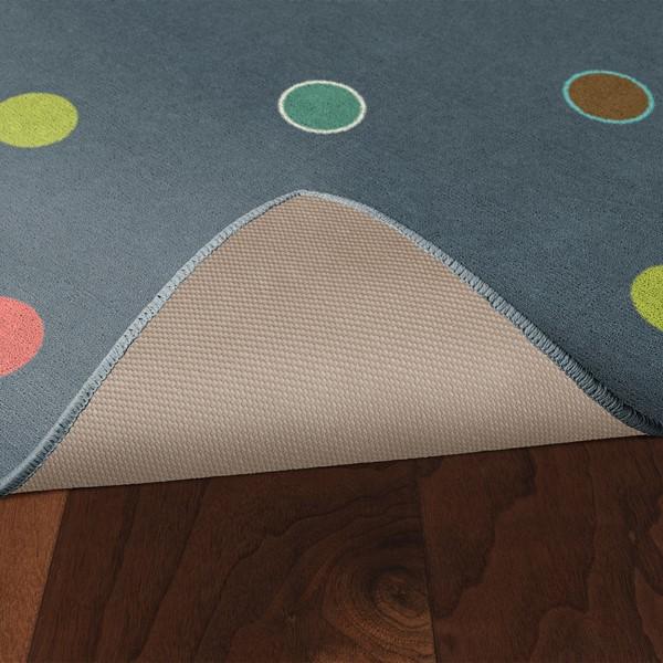 Multicolor Polka Dots Rug - Skid-Resistant Backing