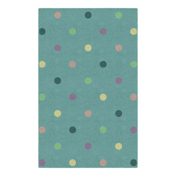 Multicolor Pastel Polka Dots Rug