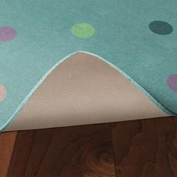 Multicolor Pastel Polka Dots Rug - Skid-Resistant Backing