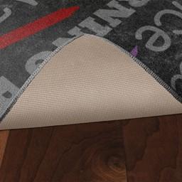 Classroom Chalkboard Rug - Skid-Resistant Backing