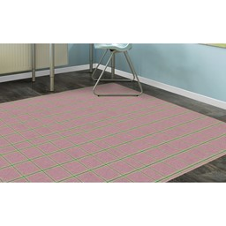 Pink & Green Plaid Rug