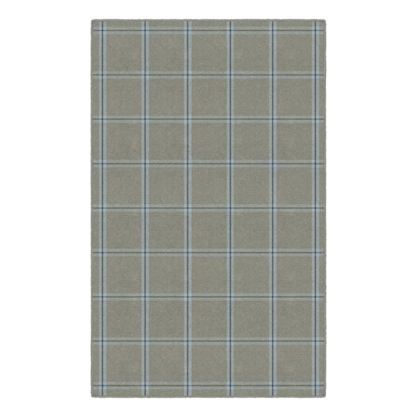 Blue & Gray Plaid Rug