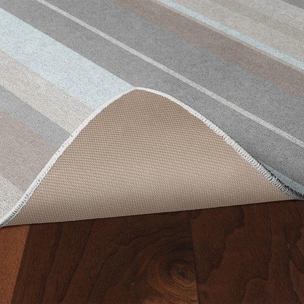 Pastel Stripes Rug - Skid-Resistant Backing