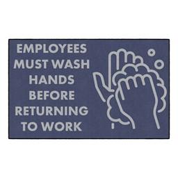 Employees Hand Wash Washable Rug - Rectangle