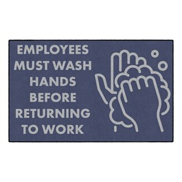 "Employees Hand Wash Washable Rug - Rectangle (5"" W x 8\"" L)"