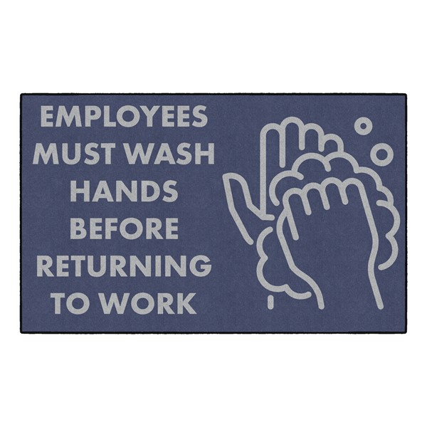 """Employees Hand Wash Washable Rug - Rectangle (3"""" W x 5"""" L)"""