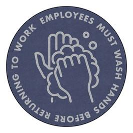Employees Hand Wash Washable Rug - Round (5\' Diameter)
