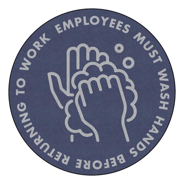 Employees Hand Wash Washable Rug - Round (5' Diameter)