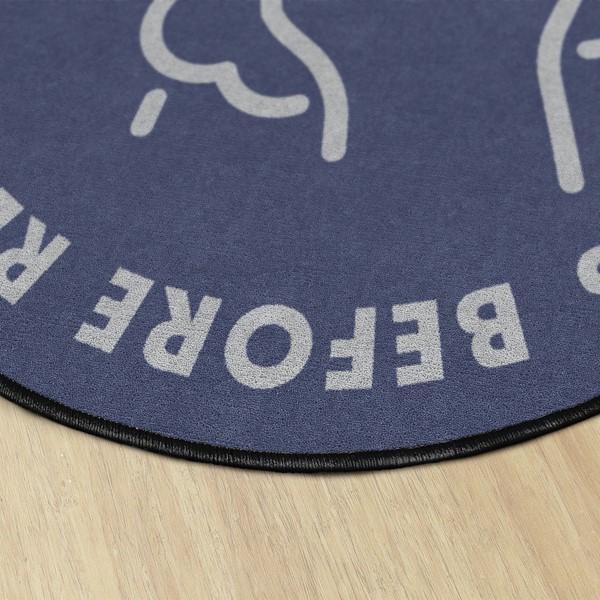 Employees Hand Wash Washable Rug - Round