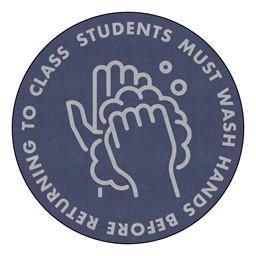 Students Hand Wash Washable Rug - Round