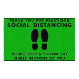 Social Distancing Washable Rug - Rectangle - Green