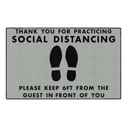 Social Distancing Washable Rug - Rectangle - Gray