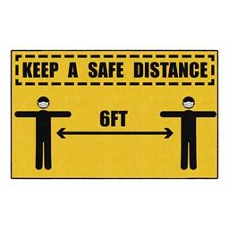 Keep A Safe Distance Washable Rug - Rectangle