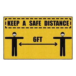 Keep A Safe Distance Washable Rug (5\' W x 8\' L)