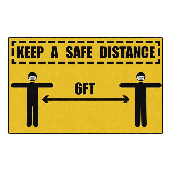 Keep A Safe Distance Washable Rug (5' W x 8' L)
