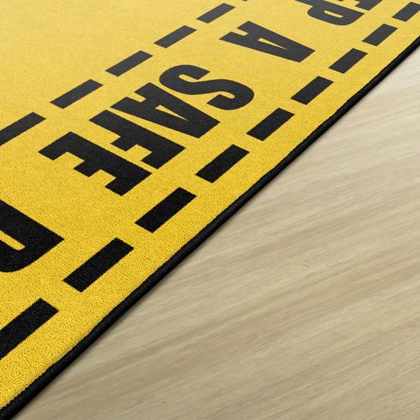 Keep A Safe Distance Washable Rug - Edge