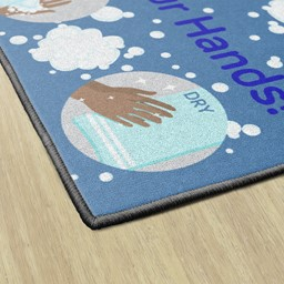 Let's Wash Our Hands Washable Rug - Rectangle