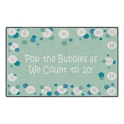 Pop The Bubbles Washable Rug - Rectangle - Contemporary