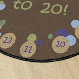 Pop The Bubbles Washable Rug - Round