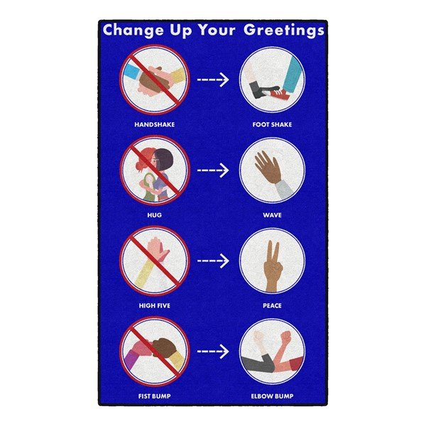 Change Up Your Greetings Washable Rug (3' W x 5' L)