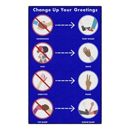 Change Up Your Greetings Washable Rug (5\' W x 8\' L)