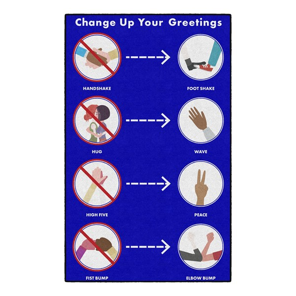 Change Up Your Greetings Washable Rug (5' W x 8' L)