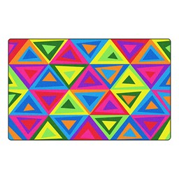 Dancing Triangles Rug - Bright™