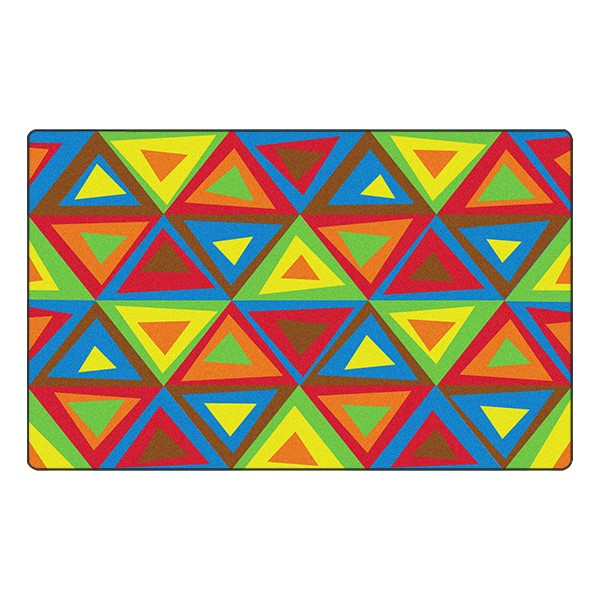 Dancing Triangles Rug - Soft™