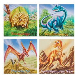 Mini Puzzles - Set of Four - Dinosaurs
