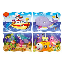 Four On The Floor Puzzles (12 Pieces) - Ocean Friends