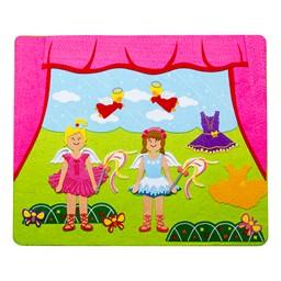 Felt Storyboard - Ballerina - Felt pieces on storyboard shown