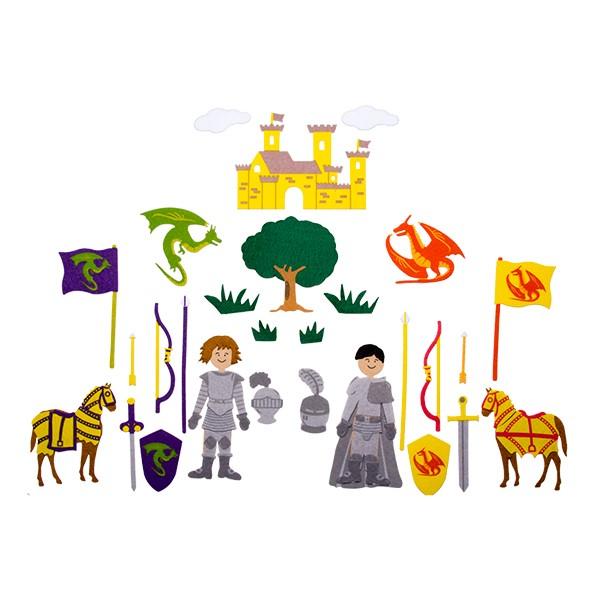 Felt Storyboard - Knights - Felt pieces shown