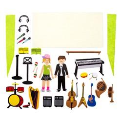 Felt Storyboard - Music Studio - Felt pieces shown