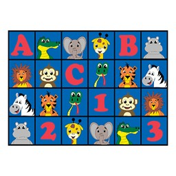 "ABC 123 Animal Fun Rug - 6' W x 8' 4"" L"