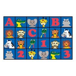"ABC 123 Animal Fun Rug - 7' 6"" W x 12' L"