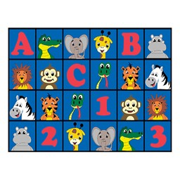"ABC 123 Animal Fun Rug - 10' 6"" W x 13' 2"" L"