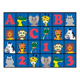 "ABC 123 Animal Fun Rug (10\' 6"" W x 13\' 2\"" L)"