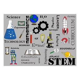 "STEM Subjects Classroom Rug - 6' W x 8' 4"" L"