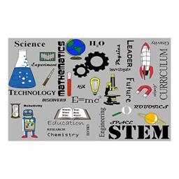 "STEM Subjects Classroom Rug - 7' 6"" W x 12' L"