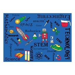 "STEM Concepts Classroom Rug - 6' W x 8' 4"" L"